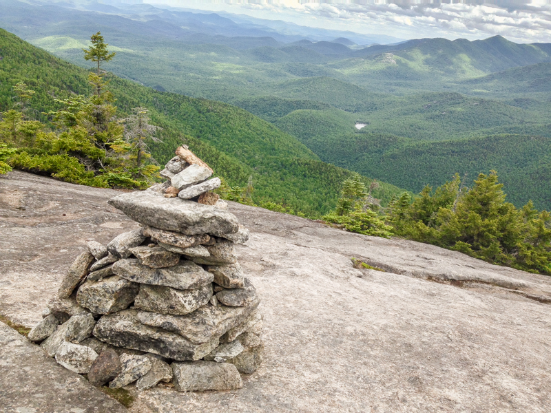 Cairn on Mountain Trail