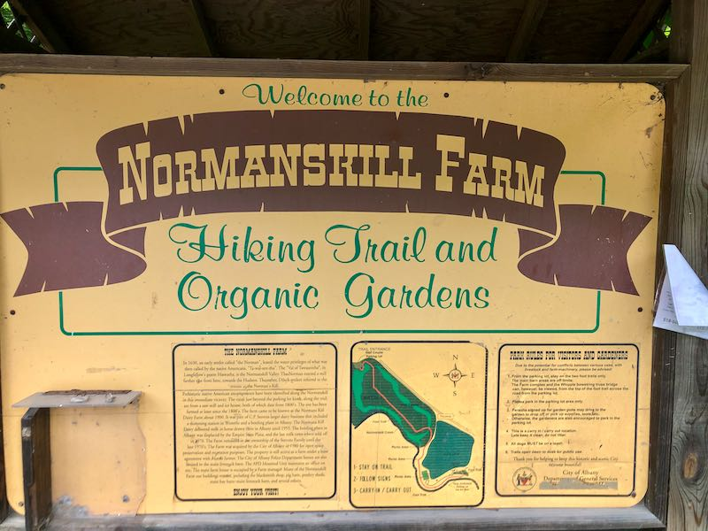 Normanskill Farm sign