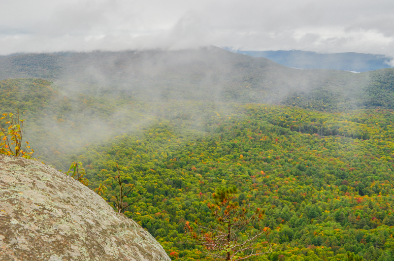 Fog over Adirondacks